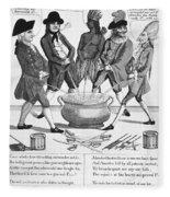 Treaty Of Paris Cartoon Fleece Blanket