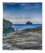 Trebarwith Strand Cornwall Fleece Blanket