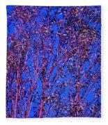 Tree Abstract Purple Blue  Fleece Blanket