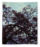 Tree Against Sky Fleece Blanket
