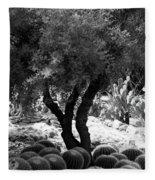 Tree And Cactus Fleece Blanket