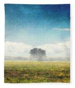 Tree And Meadow Fleece Blanket