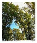 Tree Arches At Clackamette Park Fleece Blanket