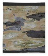 Tree Bark II Fleece Blanket