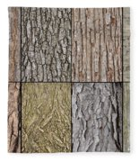 Tree Bark Fleece Blanket