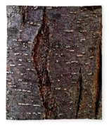 Tree Bark To The Left Fleece Blanket