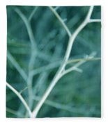 Tree Branches Abstract Teal Fleece Blanket