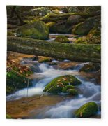 Tree Bridge In The Smokies Fleece Blanket