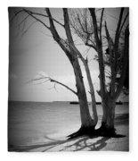 Tree By The Sea Fleece Blanket
