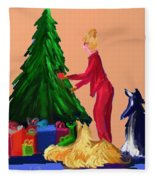 Tree Decorating Fleece Blanket