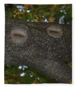 Tree Face 1 Fleece Blanket