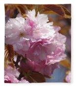 Tree Flower 01 Fleece Blanket