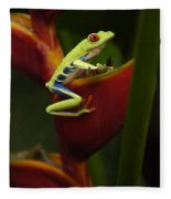 Tree Frog 3 Fleece Blanket