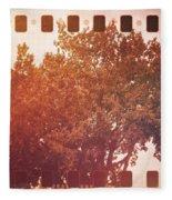 Tree Grunge Vintage Analog Film Fleece Blanket