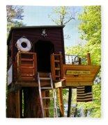 Tree House Boat 2 Fleece Blanket