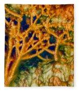 Tree In A Park Hot Springs Fleece Blanket