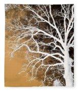 Tree In Abstract Fleece Blanket