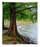 Tree In Paradise Fleece Blanket