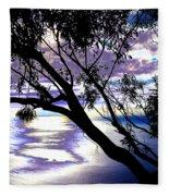 Tree In Silhouette Fleece Blanket