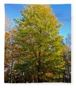 Tree In The Cemetery Fleece Blanket