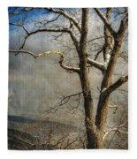Tree In Winter Fleece Blanket