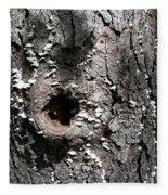 Tree Lichen Hole Fleece Blanket