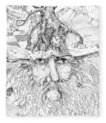Tree Man Fleece Blanket