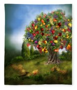 Tree Of Abundance Fleece Blanket