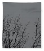 Tree Of Birds Fleece Blanket