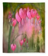 Tree Of Bleeding Hearts Fleece Blanket