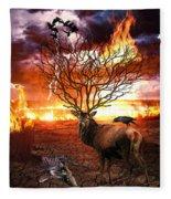 Tree Of Death Fleece Blanket