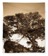 Tree Of Life In Sepia Fleece Blanket
