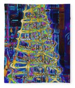 Tree Of Light Fleece Blanket