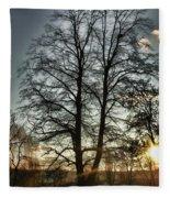 Tree Of Light Fleece Blanket