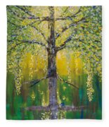 Tree Of Reflection Fleece Blanket