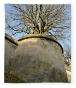 Tree On The Wall Fleece Blanket