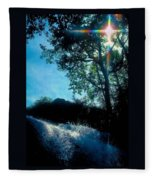 Tree Planted By Streams Of Water Fleece Blanket