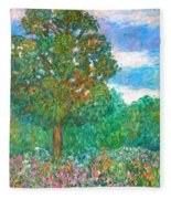 Tree Poem Fleece Blanket