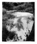Tree Reflections Fleece Blanket