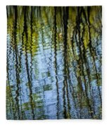 Tree Reflections On A Pond In West Michigan Fleece Blanket
