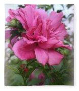 Tree Rose Of Sharon Fleece Blanket