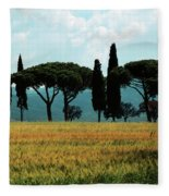 Tree Row In Tuscany Fleece Blanket