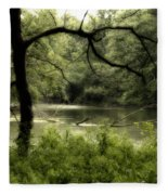 Tree Silhouette Fleece Blanket