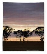Tree Silhouette Fleece Blanket