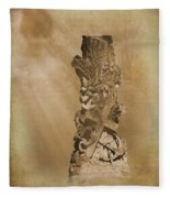 Tree Stump The Forgotten Series 05 Fleece Blanket