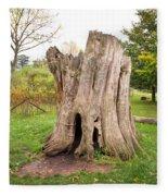 Tree Stump Fleece Blanket