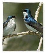 Tree Swallows Singing Fleece Blanket