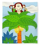 Tree Top Monkey Fleece Blanket