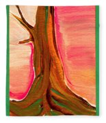 Tree Trunk Fleece Blanket