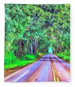 Tree Tunnel Kauai Fleece Blanket